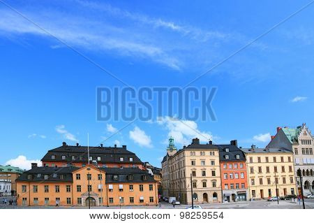 Cityscape Of Old Central Stockholm, Sweden.