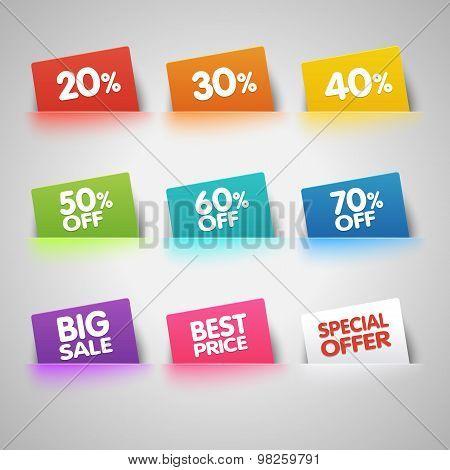 Sale labels in pocket