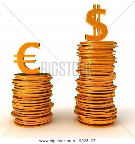 Voordeel van ons Dollar Over de Euro