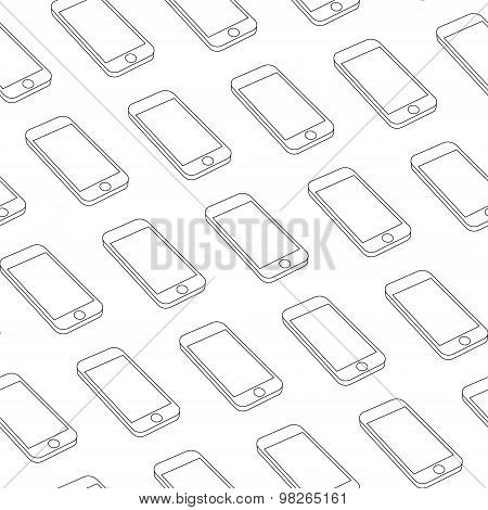 Seamless Pattern with Repeating Phones