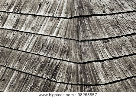 Old Wooden Shingle Roofing