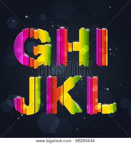 Abstract Rainbow Font