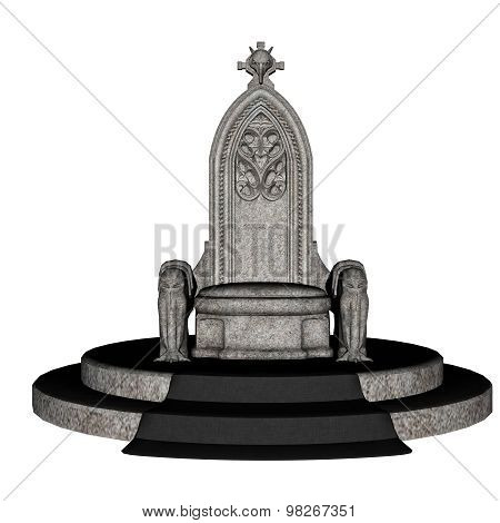 Antique throne - 3D render