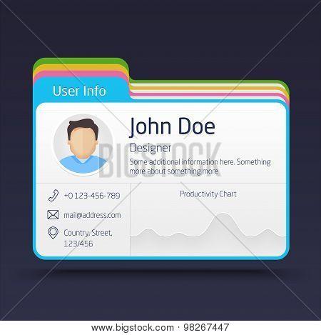 User Info Card