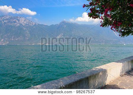 Bench Along Lake Garda Or Lago Di Garda With A View, I