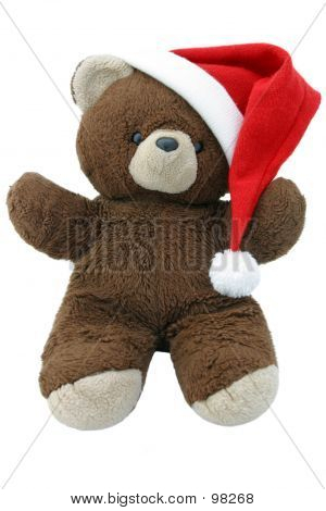 Christmas Teddy Bear Isolated