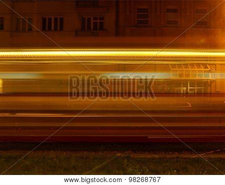 Night tram.