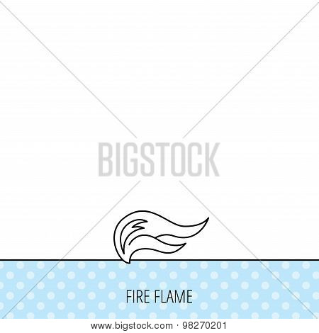 Fire flames icon. Blazing bonfire sign.