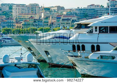 Cannes France Marina Boats