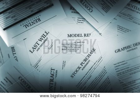 Pile Of Legal Documents
