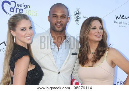 LOS ANGELES - AUG 8:  Jadyn Douglas, Andre Douglas, Alex Meneses at the 17th Annual HollyRod Designcare Gala at the The Lot on August 8, 2015 in West Hollywood, CA