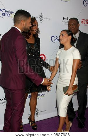 LOS ANGELES - AUG 8:  Jussie Smollett, Holly Robinson Peete, Eva Longoria, Rodney Peete at the 17th Annual HollyRod Designcare Gala at the The Lot on August 8, 2015 in West Hollywood, CA