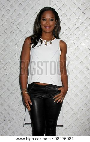 LOS ANGELES - AUG 8:  Laila Ali at the 17th Annual HollyRod Designcare Gala at the The Lot on August 8, 2015 in West Hollywood, CA