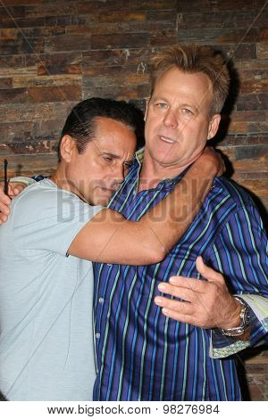 LOS ANGELES - AUG 8:  Maurice Bernard, Kin Shriner at the General Hospital Fan Club Luncheon Arrivals at the Embassy Suites Hotel on August 8, 2015 in Glendale, CA