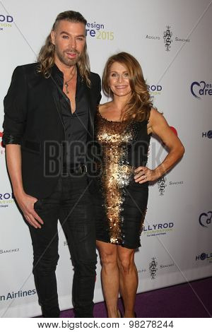 LOS ANGELES - AUG 8:  Chaz Dean, sister at the 17th Annual HollyRod Designcare Gala at the The Lot on August 8, 2015 in West Hollywood, CA