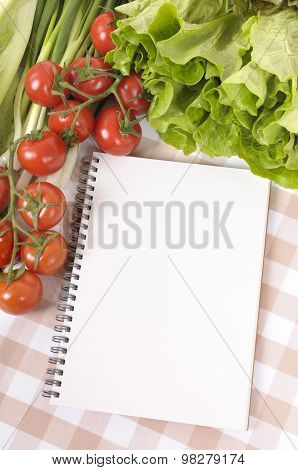 Salad With Blank Recipe Book