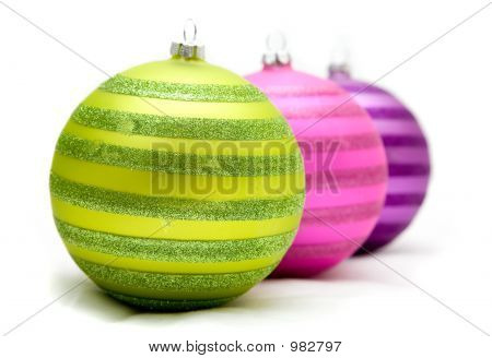 Christmas Balls On A Soft Surface