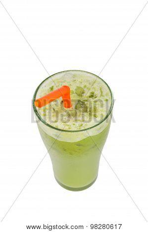 Ice Milk Green Tea Famous Drink