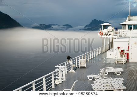 Sun Deck Cruise Ferry Boat Inside Passage Canadian Waters