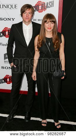 NEW YORK-AUG 3: Singerr/songwriter Johnathan Rice (L) and Jenny Lewis attend the 'Ricki And The Flash' New York premiere at AMC Lincoln Square Theater on August 3, 2015 in New York City.