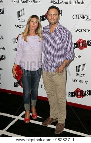 NEW YORK-AUG 3: Actors  Ilana Levine and Dominic Fumusa attend the 'Ricki And The Flash' New York premiere at AMC Lincoln Square Theater on August 3, 2015 in New York City.