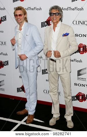 NEW YORK-AUG 3: Actor/dancer Tommy Tune (R) attends the 'Ricki And The Flash' New York premiere at AMC Lincoln Square Theater on August 3, 2015 in New York City.