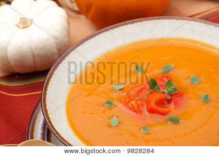 Roasted Bell Pepper Pumpkin Soup
