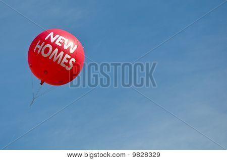 New Homes Hot Air Balloon Advertisement Sign