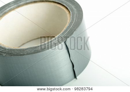 Roll of silver adhesive tape