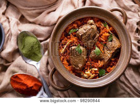 Indian Dum Biryani Lamb