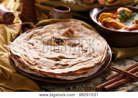 Indian Prata Bread