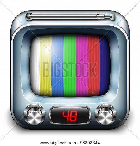 Tv App Icon, Vector