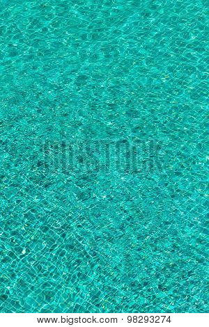 Rippling water in a pool.