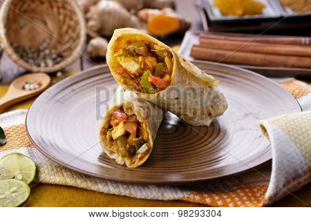 Indian Wrap Paneer Tikka