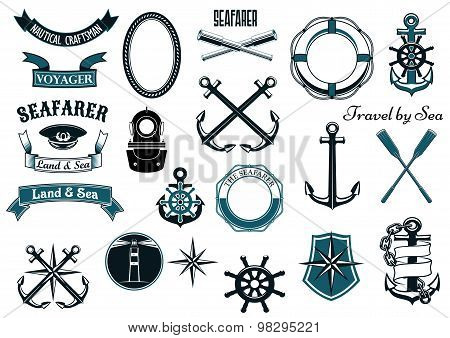 Nautical and marine heraldic elements