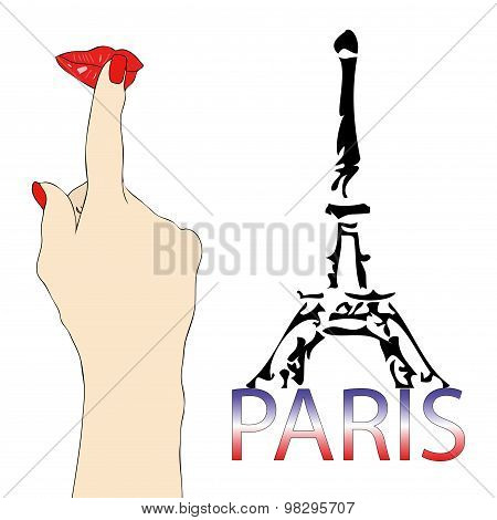 A Big Kiss From The Eiffel Tower In Paris
