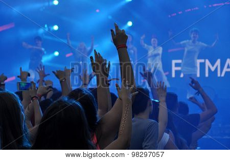 Crowd At A Rap Concert