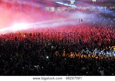 Party Crowd At A Concert