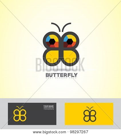 Abstract Butterfly Logo Icon