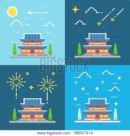 Chandeokgung Palace Flat Design