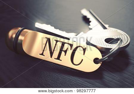 NFC written on Golden Keyring.
