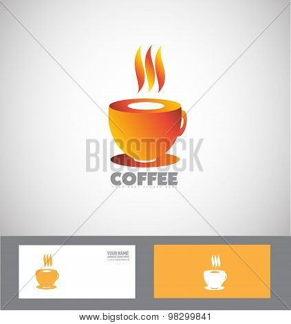 Hot Coffee Cup Logo
