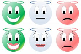 image of angry smiley  - Colorful happy - JPG