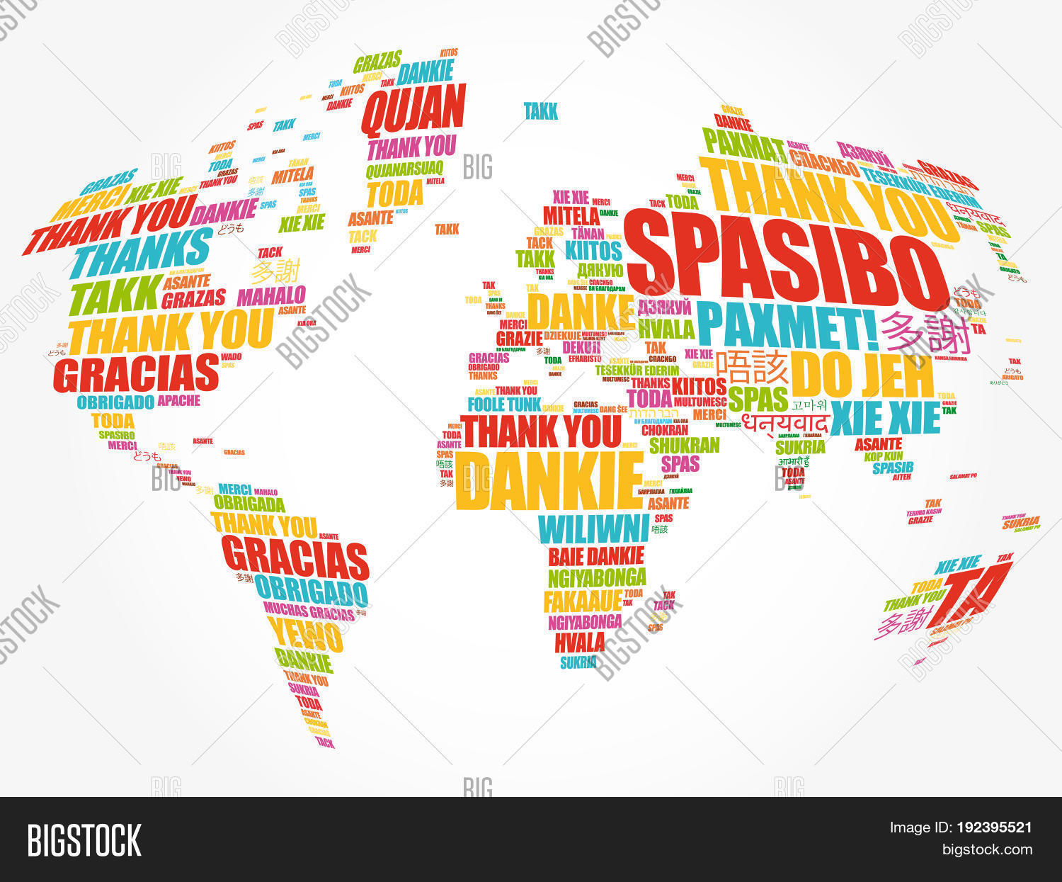 Thank You Many Languages World Map Image Photo Bigstock - How many languages in the world are there