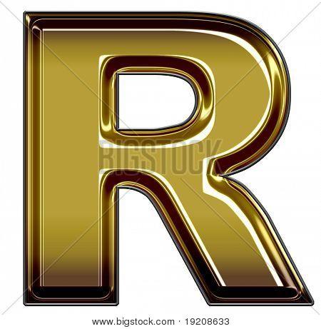 gold upper case R