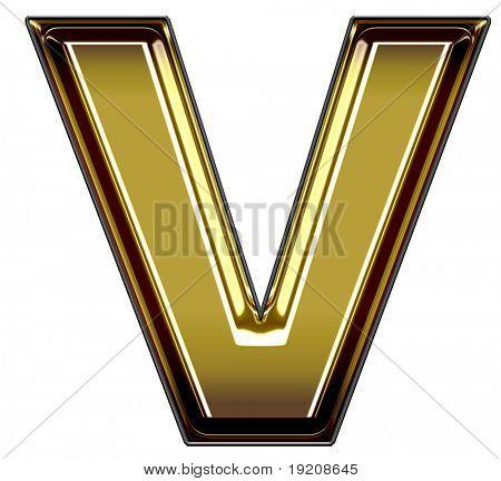 gold upper case V
