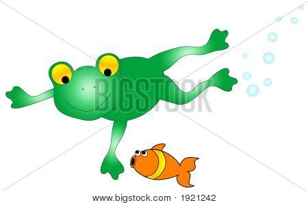 Frog And Fish Graphic