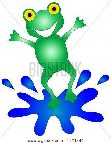 Happy Frog Graphic