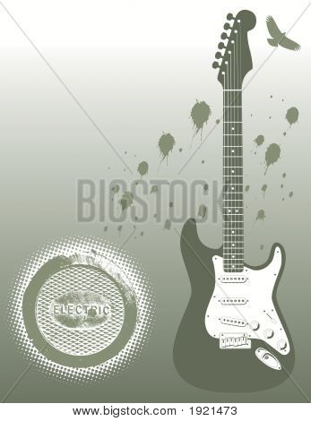 Electric Guitar With Splat