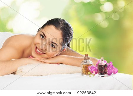poster of Woman relaxing massage body care hand massage spa woman woman spa